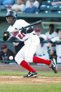 Trayvon Robinson led off with a bunt single in the Loons' first-ever game in April, 2007.