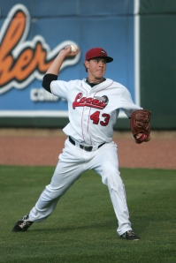Loons pitcher Scott Barlow is working his way back from Tommy John surgery in 2012.