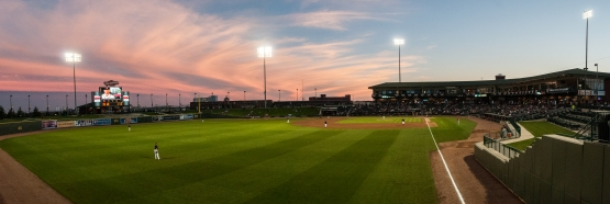 One of the many beautiful nights at Dow Diamond during the 2015 season. (Amanda Ray / Great Lakes Loons)